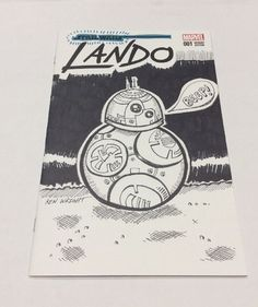 Star Wars Lando 1 Sketch Cover Variant with Cartoon Sketch BB-8  | eBay comic book