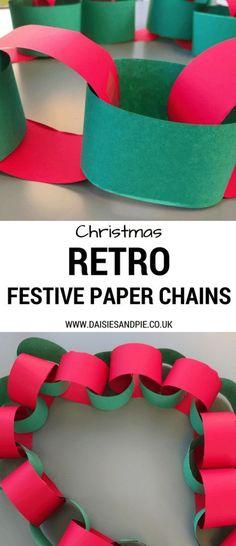 Simple festive paper chain decorations