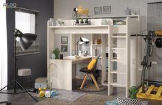 Piętrowe łóżko wielofunkcyjne   Przedstawiane piętrowe łóżko wielofunkcyjne jest idealnam rozwiązaniem do wyposażenia pokoju dziecięcego w małym pomieszczeniu. Łóżko umiejętnie wykorzystuje przestrzeń pod łóżkiem i w stosunku do mebli tradycyjnych konstrukcji jest bardzo oszczędne pod kątem zajmowanej powierzchni.