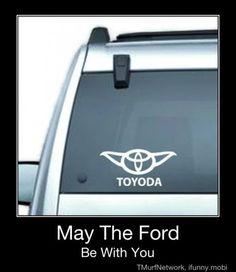 Toyota, Toyoda, Yoda, Starwars, cars