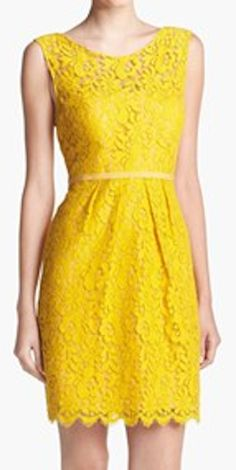yellow lace sheath dress http://rstyle.me/n/epty6nyg6