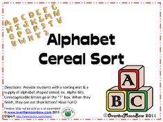 Alphabet Cereal Sort -- YUM!