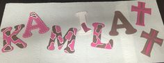 Hand drawn/painted wester theme name (wooden letter)