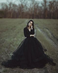 Discount gothic wedding dresses - 2018 Cheap Modest Black Country Wedding Dresses Ball Gown V Neck Long Sleeve Puffy Tutu Simple Gothic Bridal Garden Outdoor Wedding Gowns Country Wedding Dresses, Black Wedding Dresses, Tulle Wedding, Bridal Dresses, Maternity Wedding, Gown Wedding, Bridesmaid Dresses, Wholesale Wedding Dresses, Designer Wedding Gowns