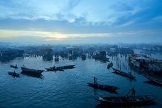 A view of  Makoko, a sprawling slum on the waterfront of Lagos, Nigeria,