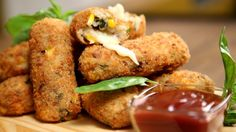 Learn how to make Potato Croquettes at home with The Bombay Chef Varun Inamdar. A croquette is a small bread crumbed fried food roll containing, usually as m. Croquettes Recipe, Potato Croquettes, Vegetarian Cooking, Vegetarian Recipes, Snack Recipes, Easy To Make Snacks, Easy Meals, Indian Snacks, Indian Food Recipes