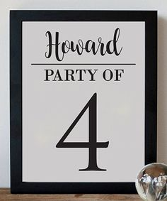 Take a look at this 'Party Of' Personalized Print today!