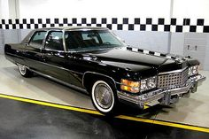 """Cadillac's """"Last Hurrah!"""", the 1974 Fleetwood Talisman. This car should get the """"least practical vehicle ever made"""" award. It was 20 feet long, seated 4, and was powered by a Five-Hundred-Cubic-Inch V8, that got 6 MPG. It commanded such a premium over the """"standard"""" Cadillac Fleetwood, hardly anyone bought it. But if you could afford it, there was no finer car in it's day. It featured front and rear consoles, shag carpet, velour, writing tablets, among other options. Shame no one remembers…"""