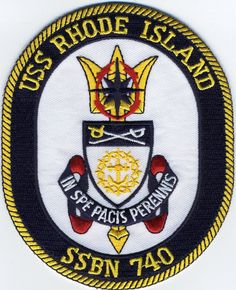 Mouse over image to zoom Have one to sell? Sell it yourself USS Rhode Island SSBN 740 - Crest - Submarine Patch