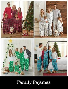 Love this idea! Matching pajamas for the entire family. Hello holiday card.