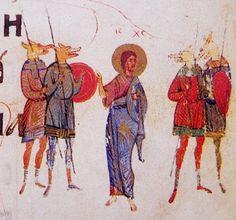 Christ with Cynocephali (dog-headed men) (Kievan Psalter, 14th c.)