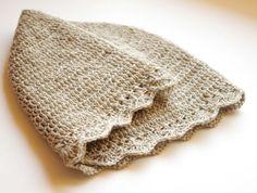 aurelia - natural linen crochet hat, 54 cm / bespoke