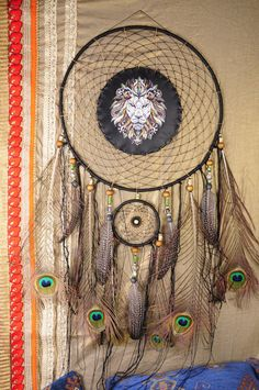 all products in my profile made personally, all the goods are in stock - items can sent in the order day HIT Sale Big Lion Dream Catcher Dreamcatcher Dream сatcher dreamcatcher top sale wall decor handmade gift Christmas idea Totem Lion New Year Product Weight 164 grams Catcher possible to make your totem animal or totem animals composition of your family! This amulet like Dreamcatcher - is not just a decoration of the interior. It is a powerful amulet, which is endowed with many p