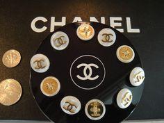 ButtonArtMuseum.com - Authentic Chanel Vintage Buttons Set of 10 Beautiful