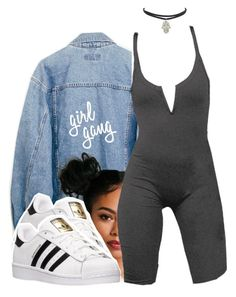 Famous by queen-tiller on Polyvore featuring polyvore fashion style adidas clothing