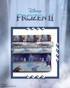 The magic of Disney's Frozen 2 will inspire you to design something enchanting! Shop these fabrics and more at JOANN Stores or JOANN.com.   #disneydiy #diydisney #disneyproject #disneycrafts #disney #disneyfabric #disneyfrozen #frozendisney #anna #elsa #olaf #kristoff #frozenfabric #frozen2fabric #frozentwo #frozen2 #frozentwofabric #disneymovies #frozendiy #disneyfrozendiy #frozen2diy #frozenprojects #frozenfanfest #frozenmovie #frozenmoviefabric #disneyprincess #disneyprincessfabric