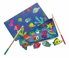 Djeco Magnetic Fishing Games - Colourful Fishing *** Learn more by visiting the image link.