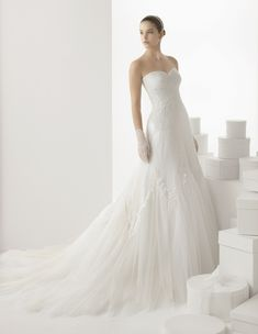 237 CARLOTA | Wedding Dresses | 2014 Rosa Clara Collection | Rosa Clara (Shown without off shoulder Illusion Lace Jacket)