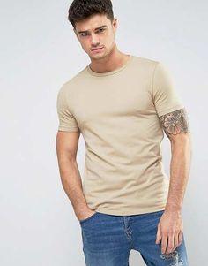 Prezzi e Sconti: #Asos t-shirt girocollo attillata beige - taglia Xlxxlxxxl  ad Euro 7.99 in #Asos #Male per prodotto shirt