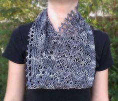 Kiss of Frost Cowl, knit in Zen Yarn Garden Serenity Silk +