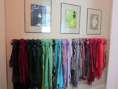Creative Way to Display Your Scarf Collection