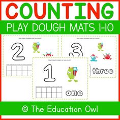 Help your students learn numbers 1-10 with these Christmas Monster Counting Play Dough Mats!⭐ 10 pagesGraphic Credit to: Prettygrafik.com✧✧✧✧✧✧✧✧✧✧✧✧✧✧✧✧✧✧✧✧✧✧✧✧✧✧✧✧✧✧✧✧✧✧✧✧✧Love this Play Dough Mats activity? Try some of my other Play Dough Mats resources!✨FREE Santa Play Dough Mats 1-5✨FREE The Na... Christmas Printable Activities, Numbers 1 10, Learning Numbers, Student Learning, Winter Christmas, Counting, Play Dough, Teaching, Education