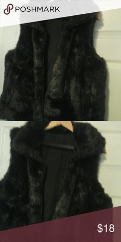 Vest Faux fur brown vest Jackets & Coats Vests