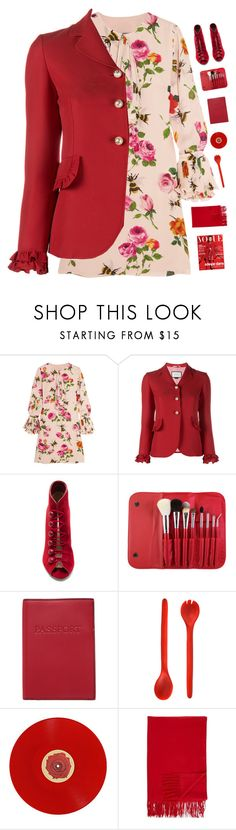 """""""Floral print dress 🌸"""" by genesis129 on Polyvore featuring Gucci, Gianvito Rossi, Morphe, Lodis, Tina Frey Designs, Hot Topic, Barneys New York and vintage"""