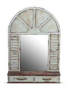 2 Drawer Mirror by Privilege on Gilt Home