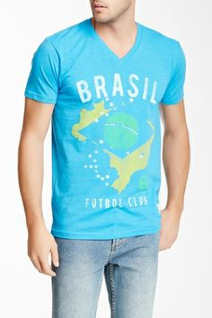 Brazil Triblend V-Neck Tee from HauteLook on Catalog Spree, my personal digital mall.