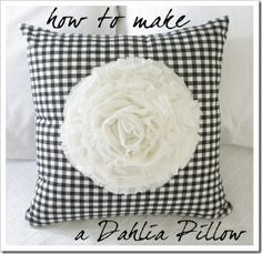 Ruffle Pillow made easy with Hot Glue | Easy DIY Flower Ruffle Pillow