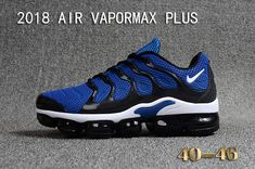 06175dbf361 2018 Nike Air Vapormax Plus KPU Mens Running Shoes For Sale Navy Blue Black  White Sneakers