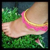 Lotus Anklet Bracelet ~ Crochet Pattern - via @Craftsy