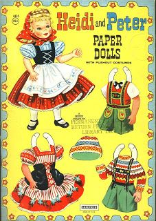 ☆Sharon's Sunlit Memories☆: Heidi and Peter Paper Dolls (Saalfield)
