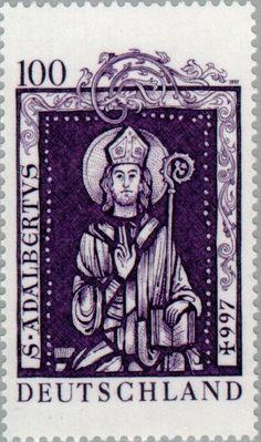Bélyeg: Adalbert, St. (Német Szövetségi Köztársaság) Mi:DE 1914,Sn:DE 1964,Yt:DE 1746,AFA:DE 2855