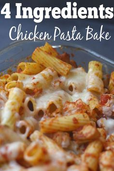 Need an easy dinner recipe? This 4 ingredient chicken pasta bake is hands down…