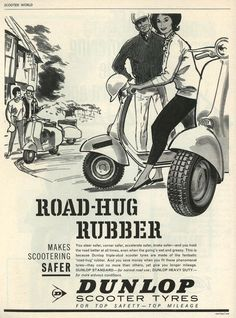 Dunlop scooter tyres, 1963