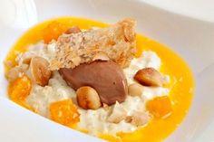 Arroz con leche con helado de chocolate y sopa de mandarina. Para hoy os sugiero una auténtica delicatessen, un delicioso postre de fiesta para repetir.