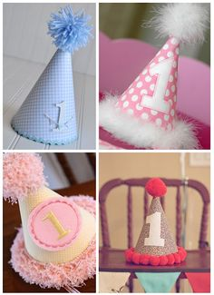 One For Her Kid Party Favor Craft First Birthday Hats 1st