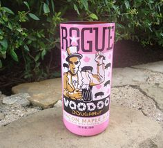 Recycled Beer Bottle Glass from a Rogue Voodoo Doughnut Bacon Maple Ale Bottle 22oz