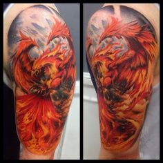109 Best Phoenix Tattoos for Men | Rise From The Flames | Improb