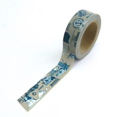 New to Hobbyhoppers on Etsy: Travel Washi Tape Grey & Blue 10m x 15mm (3.90 AUD)