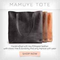 Mamuye leather tote bag // fashionABLE