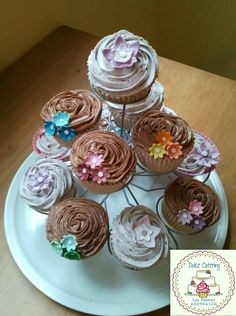 Cupcakes de chocolate y arándanos