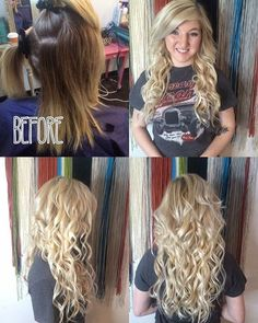 Before and after with lucky locks tape in hair extensions on my before and after with lucky locks tape in hair extensions on my beautiful client stephanie she is rocking it myluckylocks dentonunicorn b pmusecretfo Choice Image