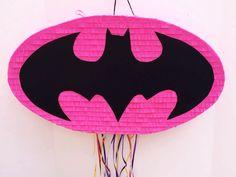 BATGIRL LOGO PINATA Piñata tire de la cadena, fiesta de cumpleaños de Batman, cumpleaños, fiesta, chicas de Dc Supehero de TRUSTITI en Etsy www.etsy.com/...