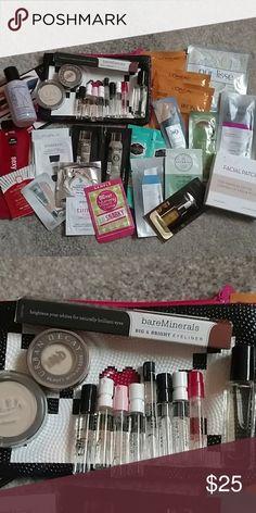 Beauty and perfume sample bundle Eye shadows, eyeliner, 9 perfume samples plus mix of hair and skincare samples Urban Decay Makeup