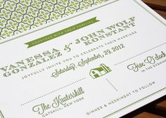 Bow & Arrow: Vanessa & John Wedding Invitation Suite