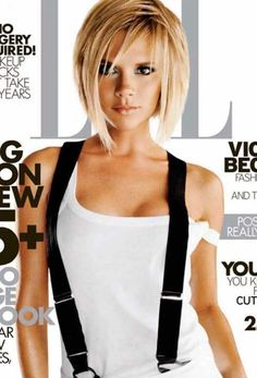 Victoria Beckham-love everything about her hair/makeup/outfit Blonde Bob Hairstyles, 2015 Hairstyles, Short Hairstyles For Women, Cool Hairstyles, Hairstyles For Fat Faces, Stylish Short Haircuts, Choppy Bob Haircuts, Layered Haircuts With Bangs, Hairstyle Ideas