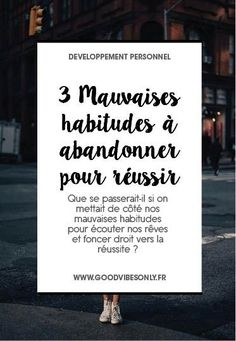 Psychology infographic and charts abandonner ses muvaises habitudes Infographic Description abandonner ses muvaises habitudes Chakras, Developement Personnel, Site Wordpress, Stress, Miracle Morning, Coach Me, Marketing Software, I Feel Good, Good Vibes Only